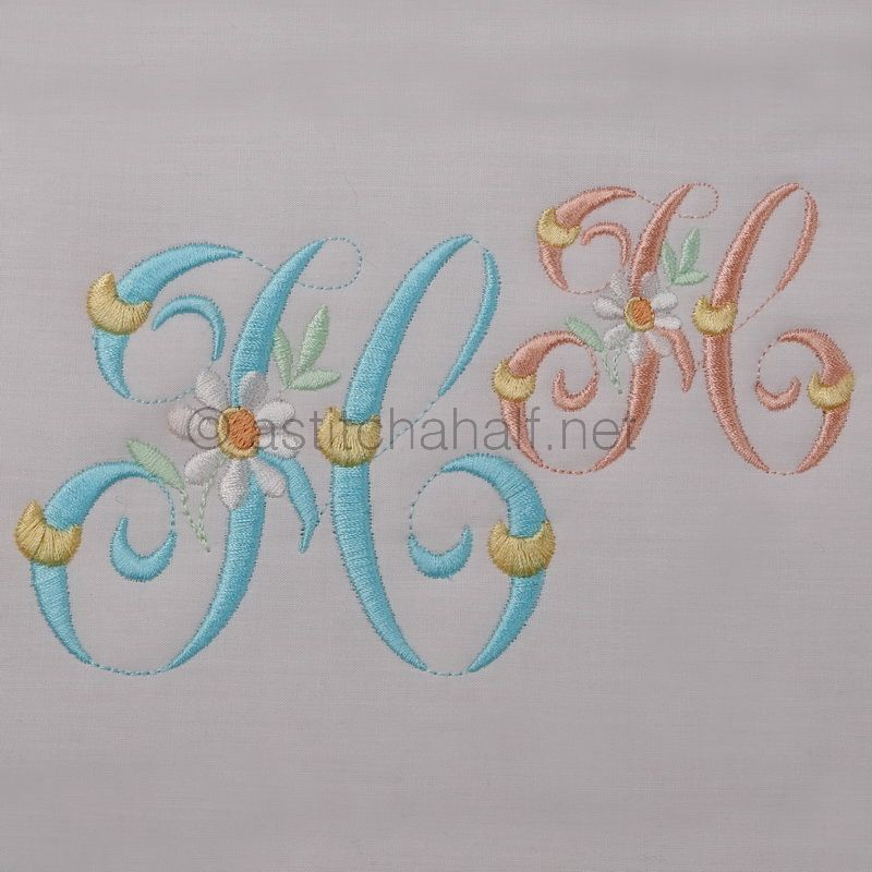 Summer Dance Monogram Letter H