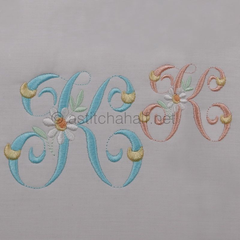 Summer Dance Monogram Letter K