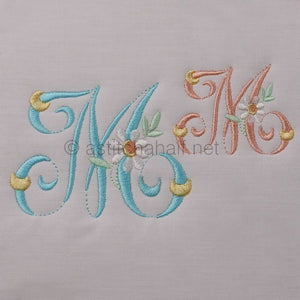 Summer Dance Monogram Letter M