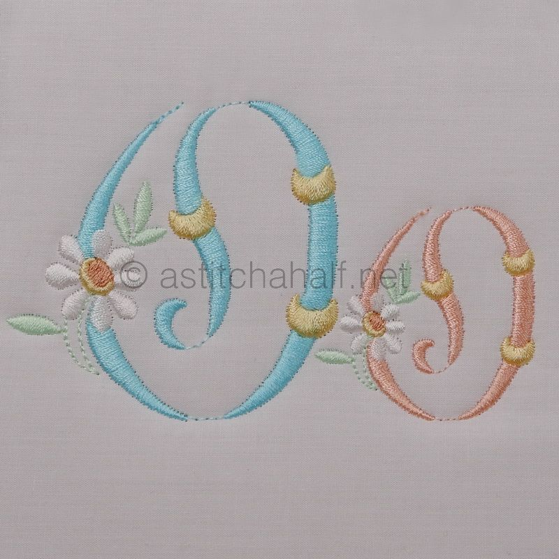 Summer Dance Monogram Letter O