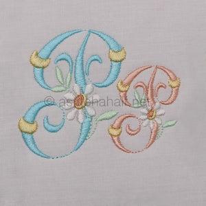 Summer Dance Monogram Letter P