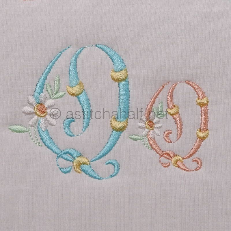 Summer Dance Monogram Letter Q