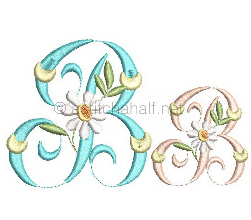 Summer Dance Monogram Letter B
