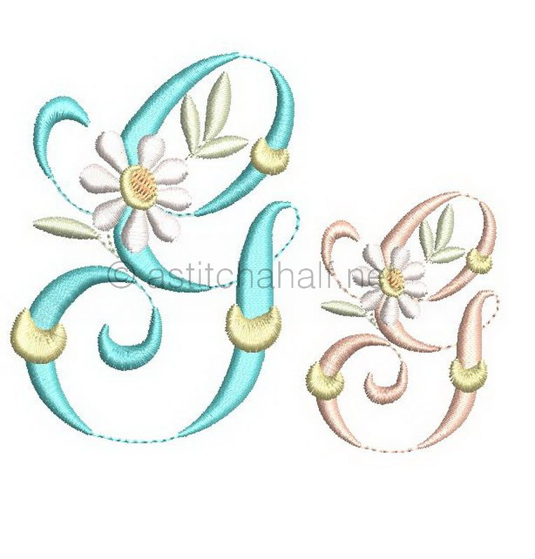 Summer Dance Monogram Letter G