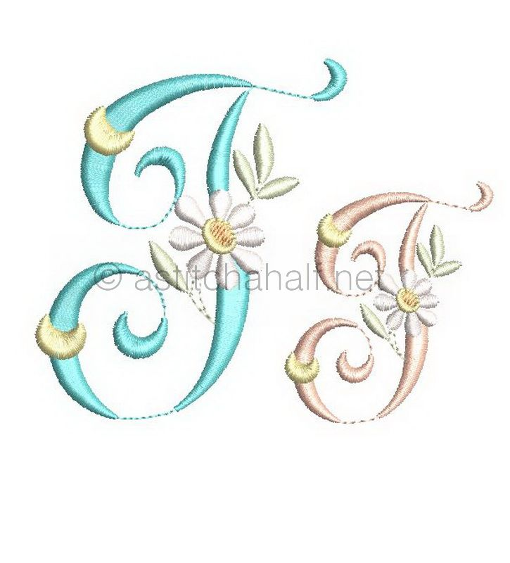 Summer Dance Monogram Letter J