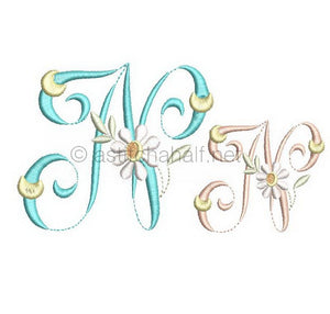 Summer Dance Monogram Letter N