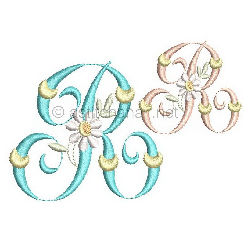 Summer Dance Monogram Letter R