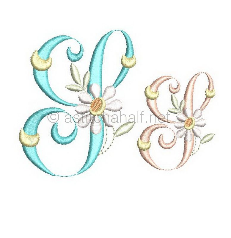 Summer Dance Monogram Letter S