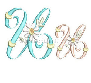 Summer Dance Monogram Letter U