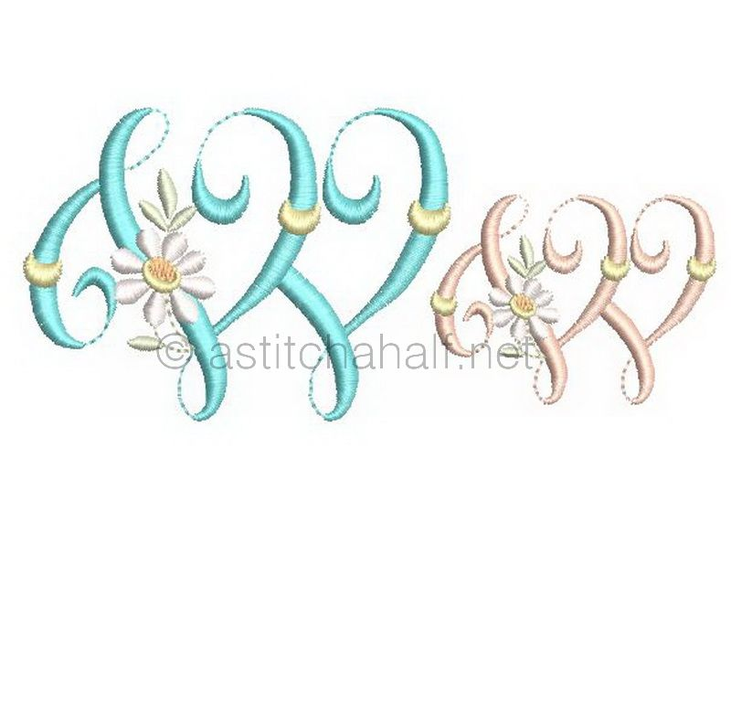 Summer Dance Monogram Letter W