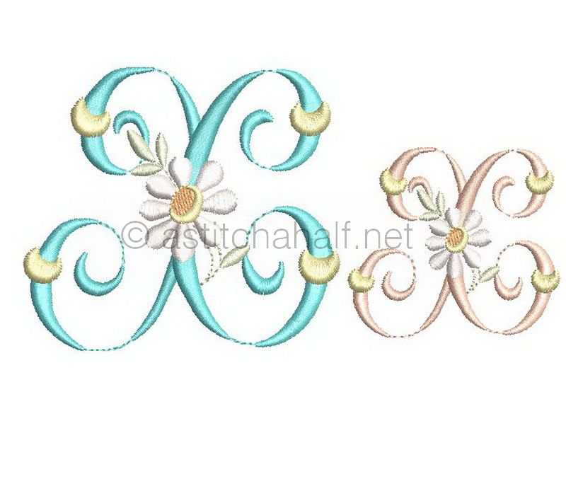 Summer Dance Monogram Letter X
