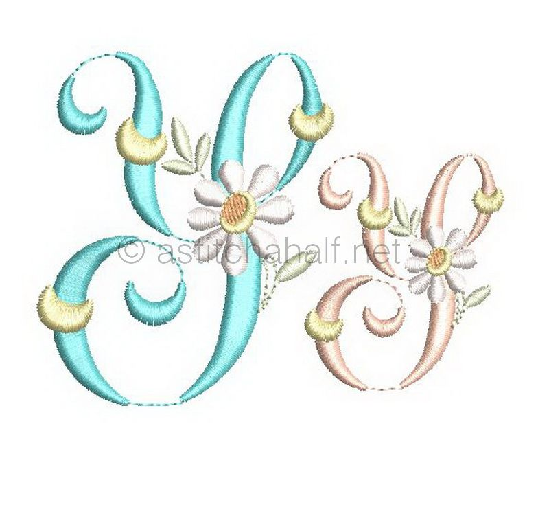 Summer Dance Monogram Letter Y