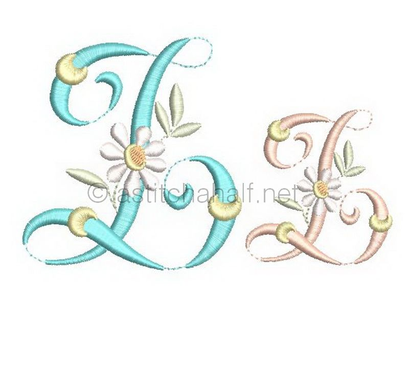 Summer Dance Monogram Letter Z