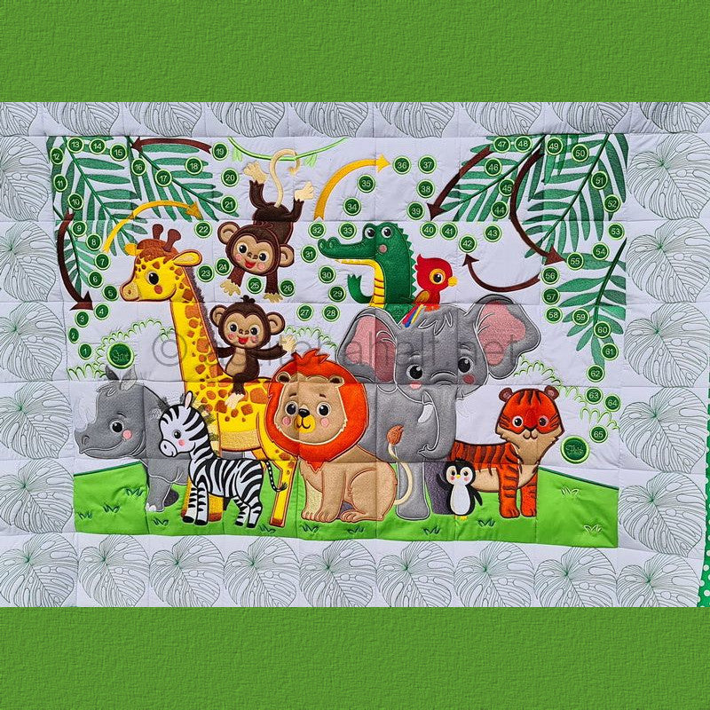 Jungle Babies Full Size Quilt and Game