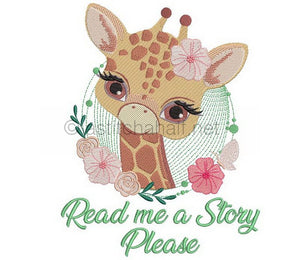 Baby Giraffe Reading Pillow Combo