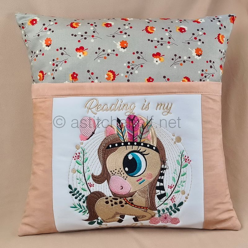 Baby Mustang Reading Pillow Combo