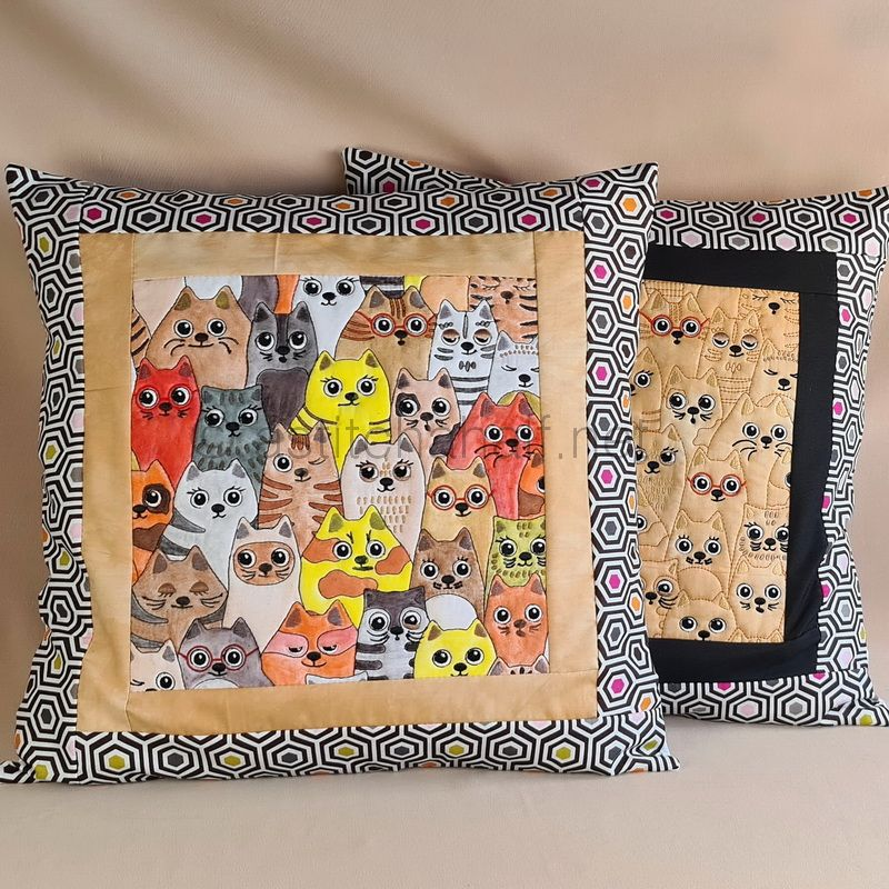 Cats Together Seamless Quilt Combo