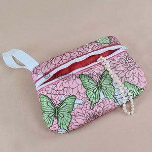 Happy Hovering Zipper Pouch - aStitch aHalf
