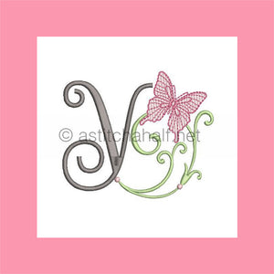 Butterfly Prelude Monogram Letter Y