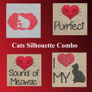 Cats Silhouette Combo