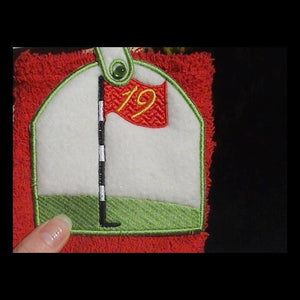 Towel Toppers The 19th Hole - a-stitch-a-half