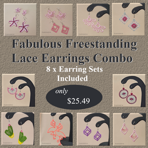 Fabulous Freestanding Lace Earrings Combo - a-stitch-a-half