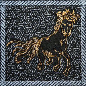 Trapunto Thoroughbred - a-stitch-a-half