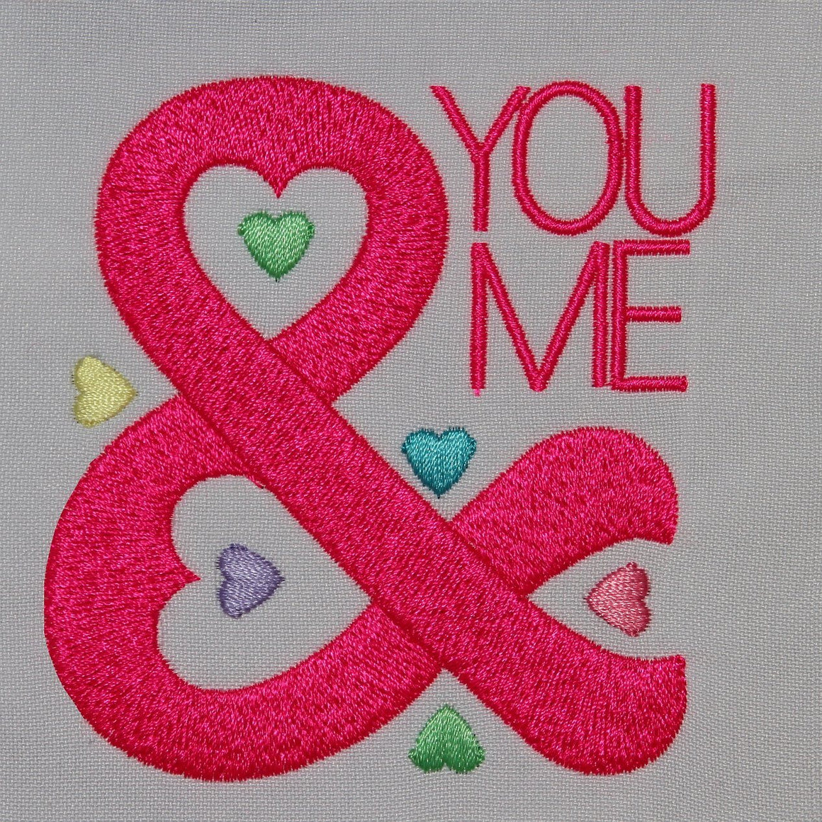 You and me with hearts - a-stitch-a-half