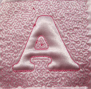Trapunto Educational Quilt 01 - a-stitch-a-half