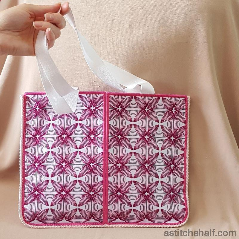 Abstract Orchid Skinny Tote - a-stitch-a-half