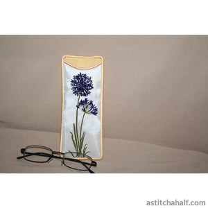 Agapanthus Eyeglass Cases - a-stitch-a-half