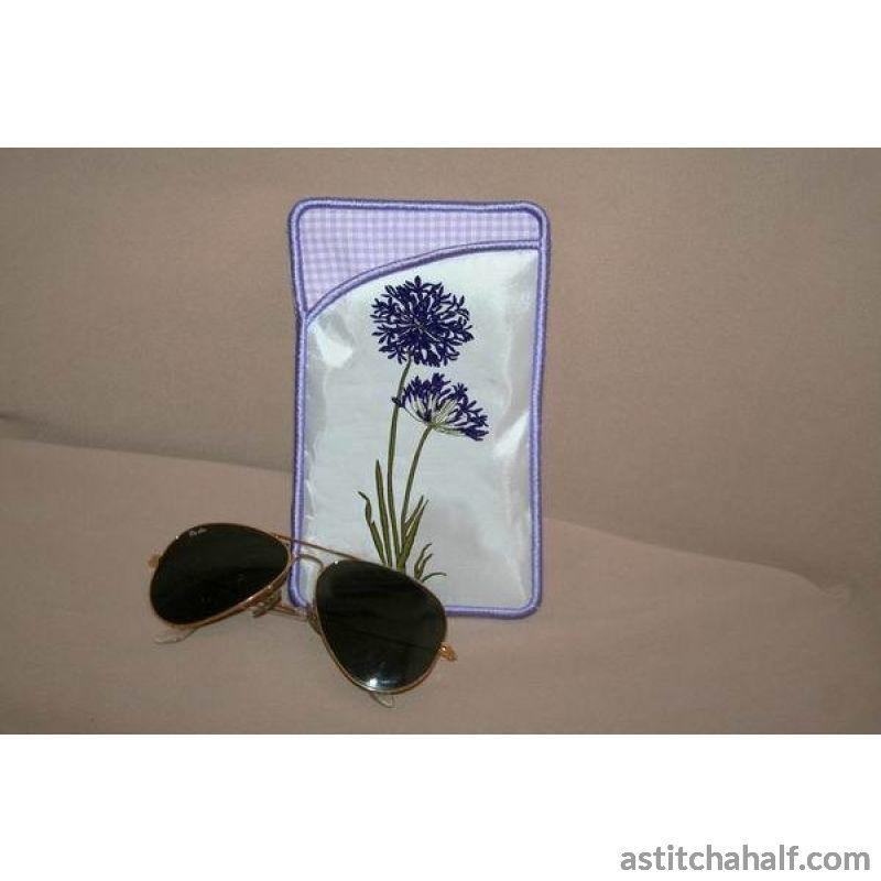 Agapanthus Eyeglass Cases - astitchahalf