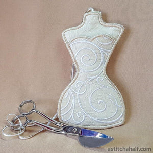 All in the Hoop Filigree Scissor Pocket - a-stitch-a-half