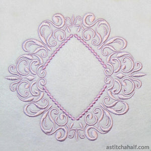 Amangani  Border Corner and Frame - a-stitch-a-half