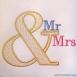 Ampersand Mr Mrs - a-stitch-a-half
