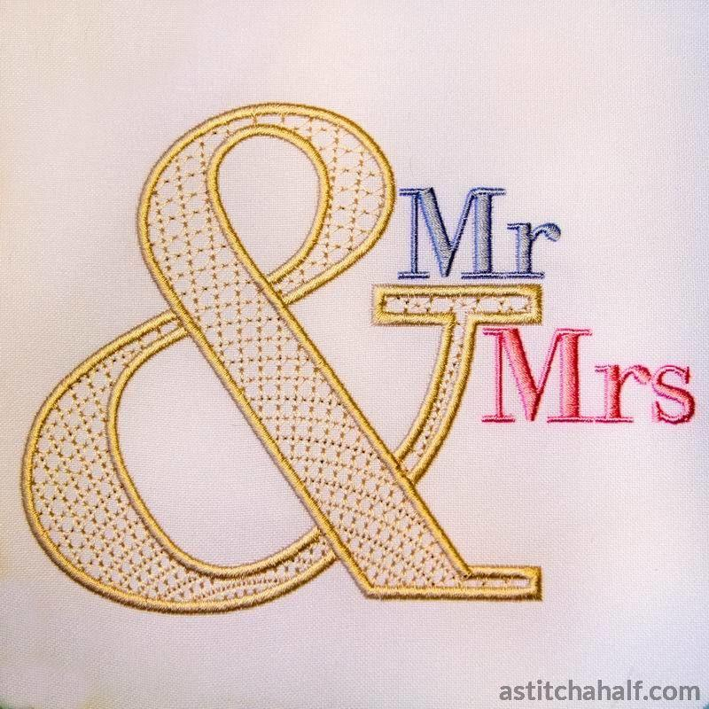 Ampersand Mr Mrs - astitchahalf