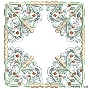 Antique Snowflake 04 - aStitch aHalf