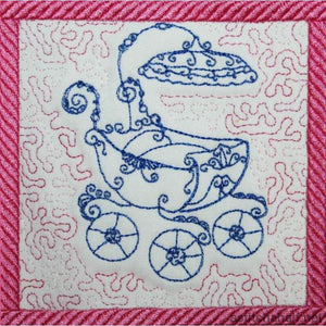 Antique Strollers Trapunto - a-stitch-a-half