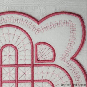 Applique Battenburg Place Mat Variety - a-stitch-a-half