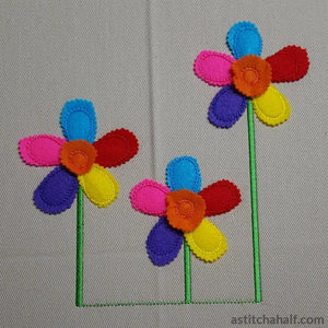 Applique Flowers for Spring - a-stitch-a-half