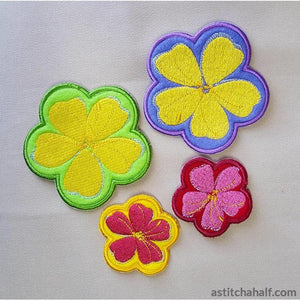 Applique May Flowers - a-stitch-a-half