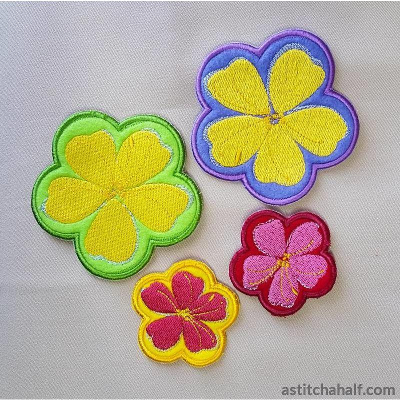 Applique May Flowers - astitchahalf