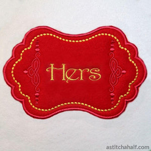 Applique Monogram Antwerpen - astitchahalf