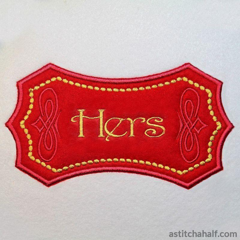 Applique Monogram Barcelona - astitchahalf