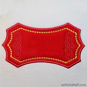 Applique Monogram Barcelona - a-stitch-a-half