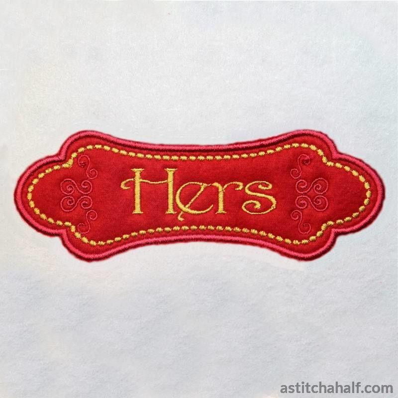 Applique Monogram London - astitchahalf