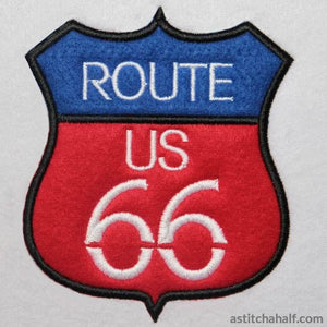 Applique Route 66 - astitchahalf