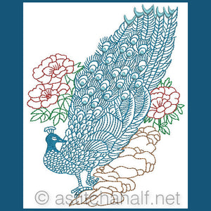 Chinese Peacock 02 - a-stitch-a-half