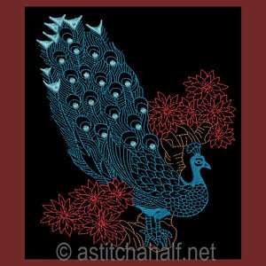 Chinese Peacock 04 - a-stitch-a-half