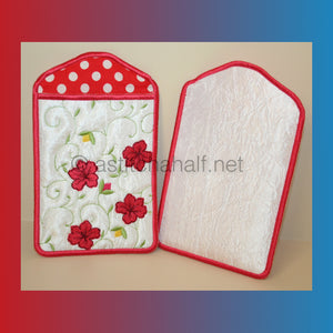 Hibiscus All In The Hoop Mobile Phone Covers and Eyeglass Pouches